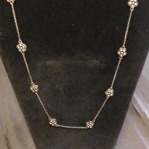 Jewelry - Hermatite black and rhinestone long necklace
